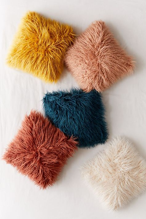 Shop Mila Faux Fur Throw Pillow at Urban Outfitters today. We carry all the latest styles, colors and brands for you to choose from right here. Colorful Throw Pillows, Fur Throw Pillows, Faux Fur Throw, Fleece Throw, Decorative Pillows, Faux Fur Pillows, Modern Throw Pillows, Pillows On Bed, Velvet Throw Blanket