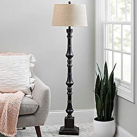 Charcoal Tin Layered Spindle Floor Lamp Floor Lamp Home Decor Decor