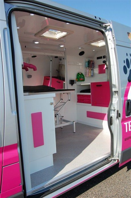 Mobile Salon Van Google Search How To Build A Mobile Grooming Van Pet Grooming Business Profit Love Dog Grooming Shop Grooming Shop Dog Grooming Salons