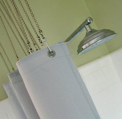 Bath Ball Chain Shower Curtain Rings