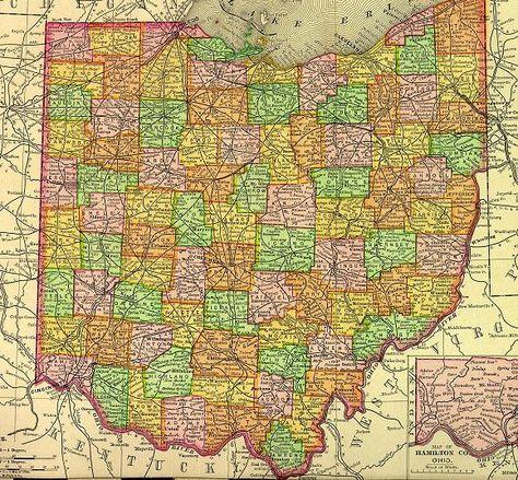 map of Ohio counties | Ohio | Ohio map, County map, Ohio
