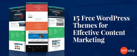 15 Free #WordPress #Themes For Effective Content #Marketing