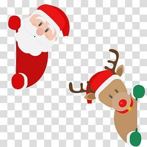 Santa Claus And Reindeer Illustration Santa Claus S Reindeer Christmas Santa Claus S Re Christmas Card Illustration Christmas Advertising Santa And Reindeer