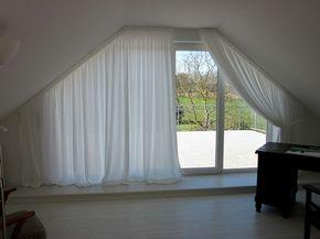 gardinen für schräge fenster 6 | Gardinen, Dreiecksfenster und ...