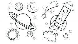 Uzay Gezegenler Boyama Sayfasi Adult Coloring Pages Boyama