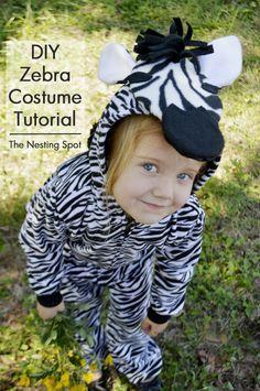 DIY zebra costume tutorial  sc 1 st  Pinterest & Last Minute Halloween Costume Ideas | Zebra costume Costumes and ...