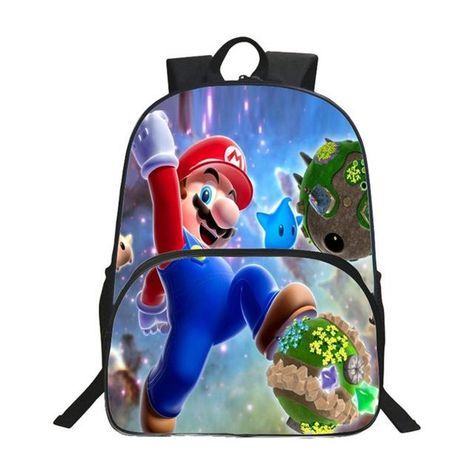 3fabfca26b 2017 Children School Bags Cartoon Doll Super Mario Printing Backpacks For  Boys Girls Mario Bros Bag Students Birthdays Gifts
