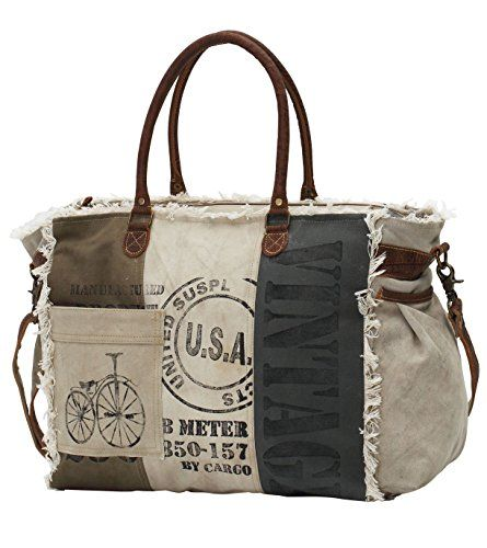 Myra Bags Usa Stamped Upcycled Canvas Weekender Bag M 075 Canvas Weekender Bag Usa Bag Bags Free shipping cash on delivery easy returns and exchanges. myra bags usa stamped upcycled canvas