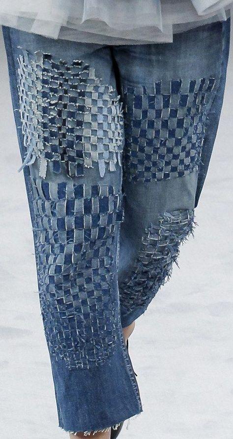 Viktor & Rolf, Fall 2016, jeans detail #diypantsjeans