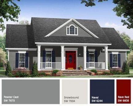 New Farmhouse Paint Colors Exterior 28 Ideas Gray House Exterior House Paint Exterior House Paint Color Combination