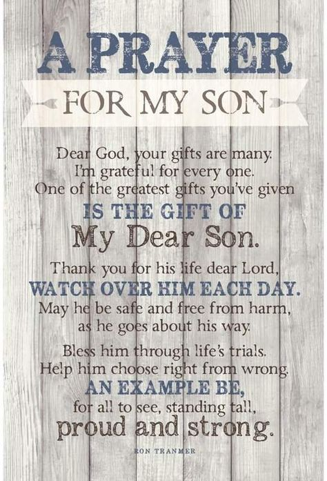 Birthday Quotes : 'Prayer for My Son' - Unframed Textual Art Print on Wood - The Love Quotes Poem For My Son, Son Quotes From Mom, Mother Son Quotes, I Love My Son, Mom Quotes, Mothers Love For Her Son, My Wish For You, Sunday Quotes, Morning Quotes