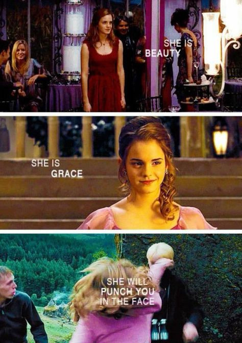 "Harry Potter Facts and Stuff on Twitter: ""—She is beauty  —She is grace  —She will punch you in the face… """