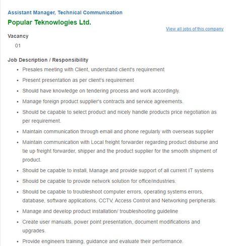 Career - RFL Group - Assistant Manager - Compliance VACANCY - marketing assistant job description