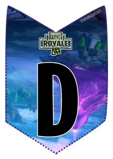 Letter N Fortnite : letter, fortnite, Decoracion, Fortnite, Cumpleanos, Birthday, Party, Decorations,, Party,