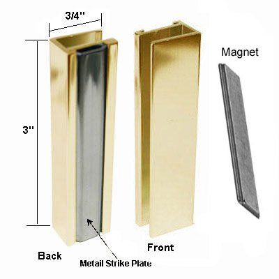 Bright Gold Shower Door U Channel With Metal Strike And Magnet Set Review Gold Shower Gold Shower Door Shower Doors