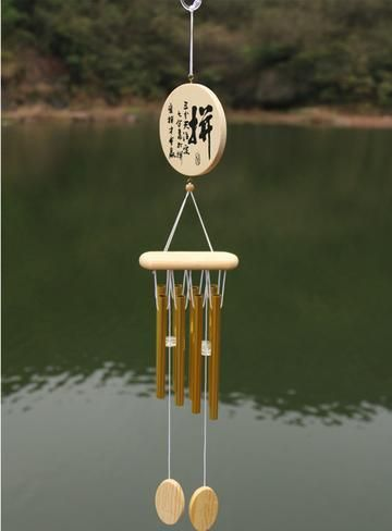 Tibetan Wind Chimes with 8 Bells Chinese Knot Mascot Luck Outdoor Decor Garden