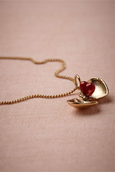 Coeur Necklace from BHLDN. Cutest necklace ever, holds your heart inside!