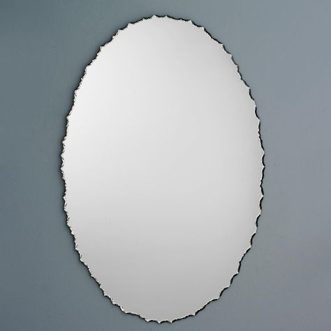 Oval Chiseled Frame Mirror