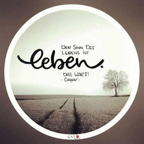 Letter Lovers mit.caro.und.herz: Lettering Spruch Der Sinn des Lebens ist leben. Das war's. - Casper