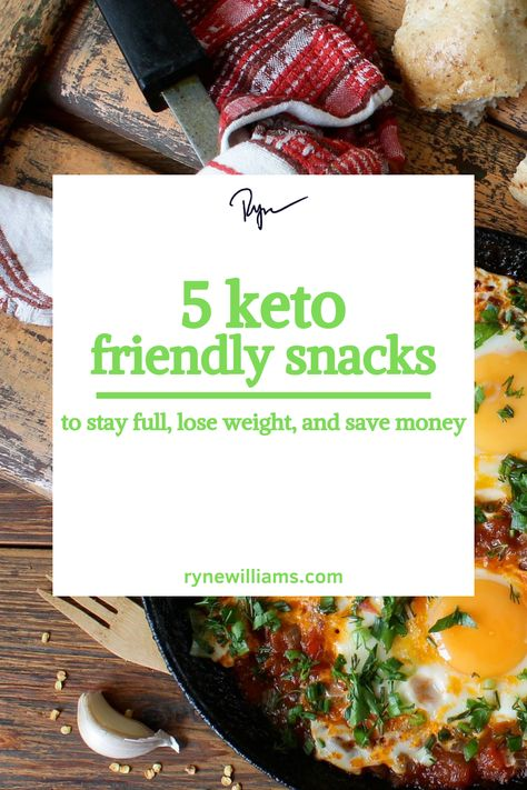 These 5 keto friendly snacks are perfect for anyone trying to find success with the keto diet.  These snacks are guaranteed to help you stay full, lose weight, and save money at the grocery store.