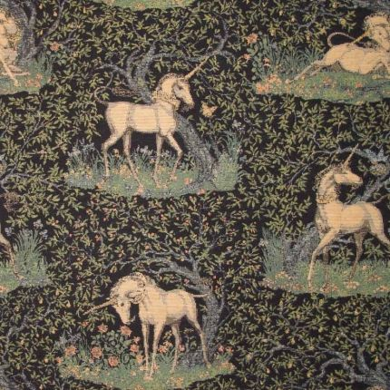 Guinevere Medieval Mystical Unicorn Celtic Medieval Dark Blue And