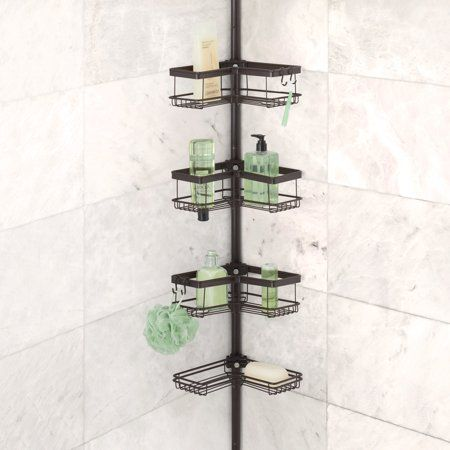 Better Homes Gardens Contoured Tension Pole Shower Caddy Oil