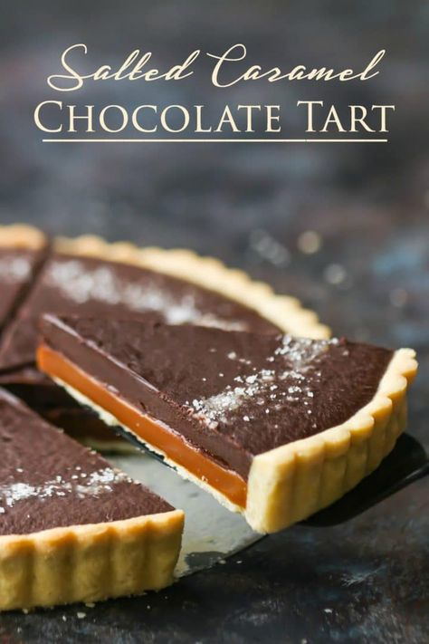 Chocolate Tart: Just like a grown up Twix bar! Buttery cookie crust, rich caramel, and silky chocolate ganache. Caramel Chocolate Tart: Just like a grown up Twix bar! Buttery cookie crust, rich caramel, and silky chocolate ganache. Salted Caramel Chocolate Tart, Caramel Ganache, Chocolate Ganache Tart, Chocolate Caramels, Homemade Chocolate, Chocolate Recipes, Chocolate Tarts, Caramel Bars, Salted Caramel Filling Recipe
