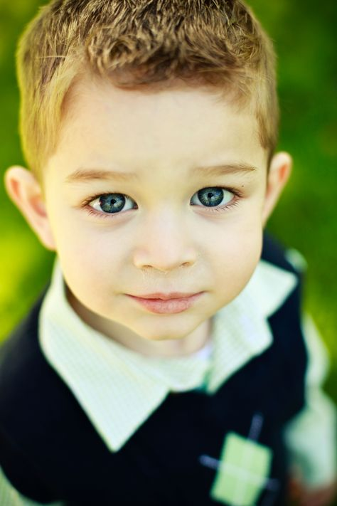 I think he is beautiful! My favorite 3 year old.