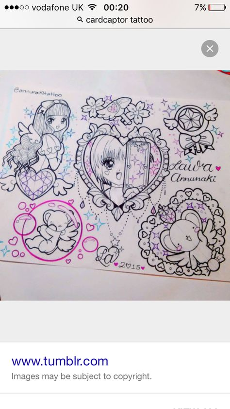 Card captor tattoos