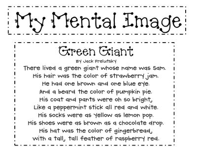 visualizing... Would be awesome if teacher read this aloud to class, then students had to draw what they thought the giant looked like, based on what they heard.