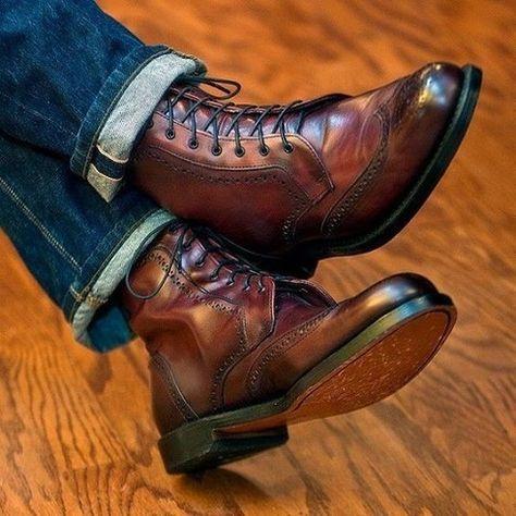 Allen Edmonds Dalton Boot in Oxblood Leather Ankle Boots Men, Brown Leather Ankle Boots, Shoe Boots, Leather Men, Best Shoes For Men, Men S Shoes, Dress With Boots, Dress Shoes, Mens Boots Fashion