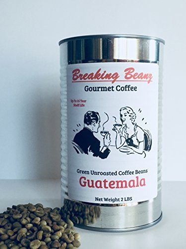 Green Coffee Beans Unroasted Guatemalan Food Storage 2 Lbs