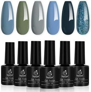 Beetles Gel Nail Polish Set Cranberry Series 6 Colors Nail Art Gift B K Garrigan Uk Gel Nail Kit Gel Nail Polish Set Glitter Gel Polish