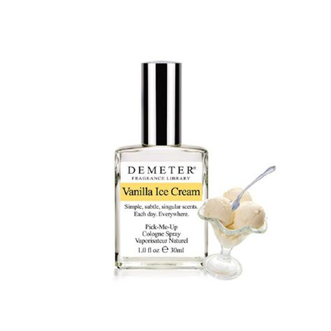 Vanilla Ice Cream, Demeter FragrancesDemeter'sVanilla Ice Creamis sinfully rich, but also bright, warm and inviting, like the summer's day that inspired it.