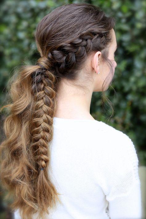 Viking Braid Ponytail   #hairstyles #CuteGirlsHairstyles #CuteGirlHair #hairstyle #braid #braids #boho #DIY #coachella