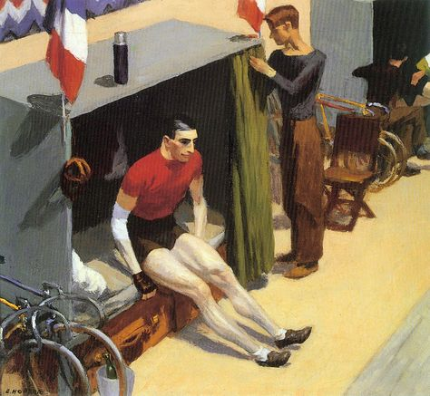 'French Six-day Bicycle Rider' | Edward Hopper, 1937. #Hopper
