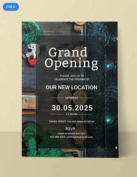 Hotel Opening Invitation Card Template Free Pdf Word Psd Apple Pages Illustrator Publisher Invitation Card Format Shop Opening Invitation Card Grand Opening Invitations