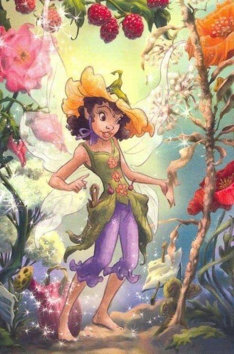 Cute Disney, Disney Fairies Pixie Hollow, Black Fairy, Disney Art, Art, Disney Fairy, Fairy Friends, Disney Face Characters, Fairy Tales