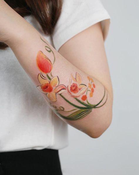 Vintage daffodils #Tattoo #ink #tatuaje