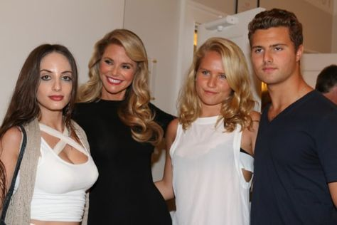 Christy Brinkley With Her Three Children Alexa Rae Sailor And