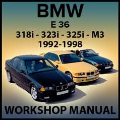Bmw E36 318i 323i 325i 328i M3 1992 1998 Workshop Manual In 2020 Bmw E36 318i Bmw E36 Bmw