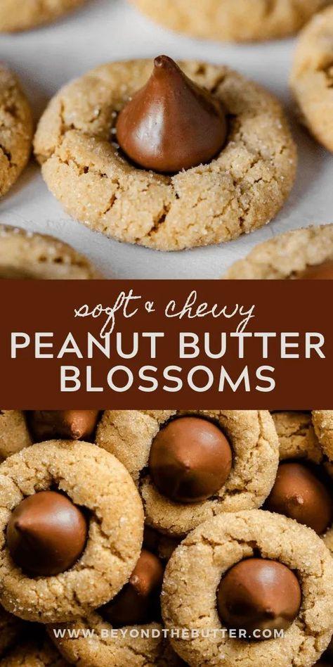 Köstliche Desserts, Holiday Desserts, Holiday Baking, Holiday Recipes, Delicious Desserts, Dessert Recipes, Yummy Food, Easy Delicious Recipes, Chewy Peanut Butter Cookies