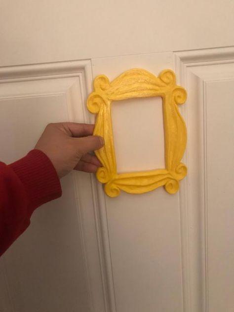 cee3c7cc22b9 Friends tv show frame friends peephole frame friends yellow door frame gift  for her best friend