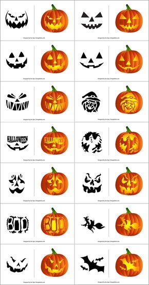 Free Printable Halloween Pumpkin Carving Stencils, Patterns, Designs, Faces & Ideas Free-Halloween-Pumpkin-Carving-Patterns-Scary-Stencils-In-Vector-Format Disney Pumpkin Stencils, Halloween Pumpkin Stencils, Halloween Pumpkin Carving Stencils, Disney Pumpkin Carving, Scary Pumpkin Carving, Halloween Pumpkin Designs, Scary Halloween Pumpkins, Pumpkin Carving Templates, Halloween Patterns