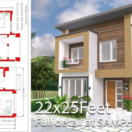 Sketchup House Modeling Idea From Photo 8x10m Samphoas Plan Home Design Plan House Design Modern House Plans