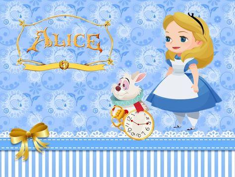 Mais um kit no blog totalmente grátis tema Alice no pais das maravilhas se você gostou é só clicar na imagem e salvar e fácil de editar e pr...