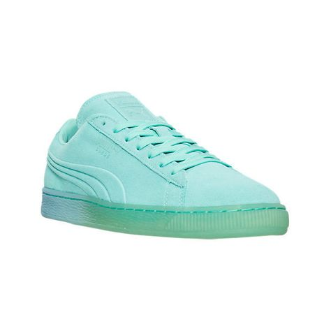 74378bd5270d71 Puma Men s Suede Classic Emboss Iced Fade Casual Shoes ( 75) ❤ liked on  Polyvore featuring men s fashion