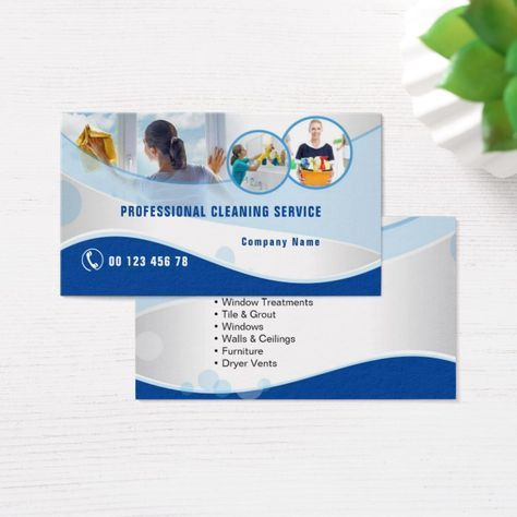 Professional Cleaning Service Business Card Zazzle Com Professional Cleaning Services Cleaning Service Cleaning Service Logo