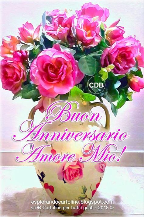 Cartolina Buon Anniversario Amore Mio Con Immagine