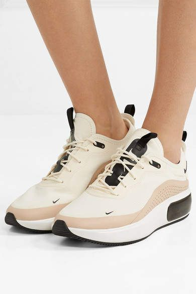 Nike Air Max Dia Leather trimmed Mesh Sneakers Cream #Max